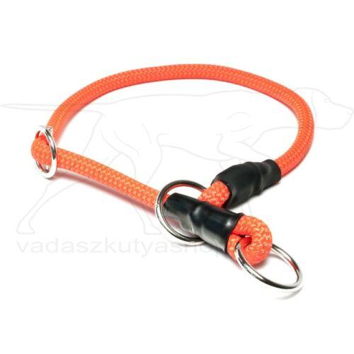 Mystique® Nyakörv nylon kerek stoppal 8mm 50cm neon narancs