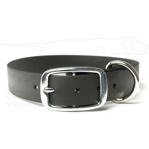 Mystique® Biothane deluxe nyakörv 19mm fekete 45-53cm