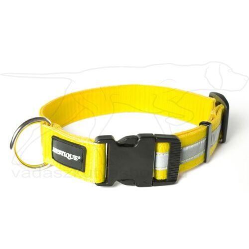 Mystique® Fényvisszaverő nyakörv click csattal 25mm sárga 40-50cm